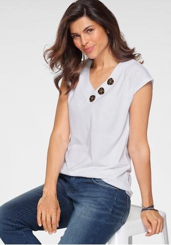 Boysen's V-Shirt, mit grossen Knöpfen kaufen