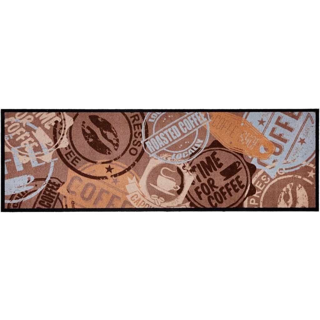 Zala Living Küchenläufer »Coffee Stamp«, rechteckig, 5 mm Höhe, waschbar