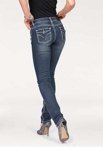 Arizona Slim - fit - Jeans »mit Kontrastnähten und Pattentaschen« kaufen