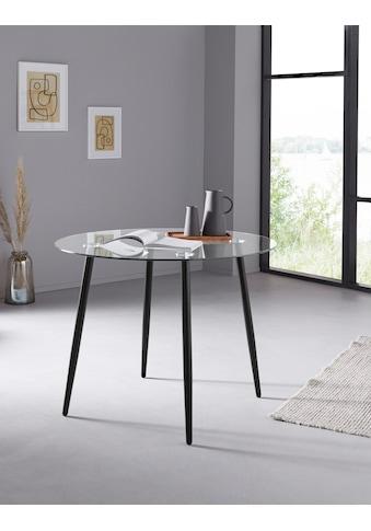 my home Glastisch »Danny«, runder Esstisch mit einem Ø von 100 cm kaufen