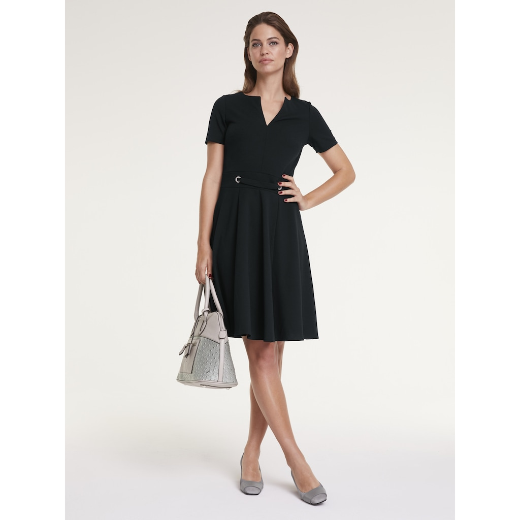 ASHLEY BROOKE by Heine A-Linien-Kleid, mit Zier-Ösen