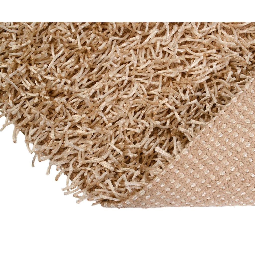 Gözze Badematte »Shaggy Uni«, Höhe 50 mm, rutschhemmend beschichtet, fussbodenheizungsgeeignet