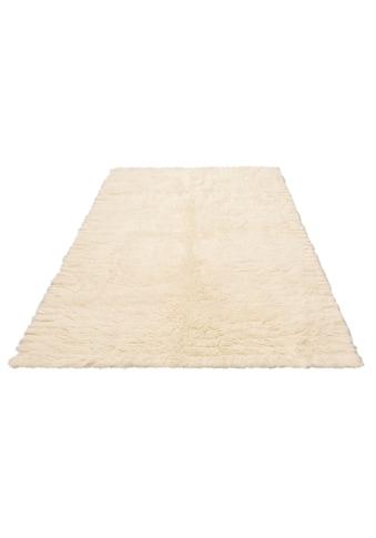 andas Wollteppich »Lucy«, rechteckig, 40 mm Höhe, reine Wolle, echter Flokati, handgewebt, Wohnzimmer kaufen