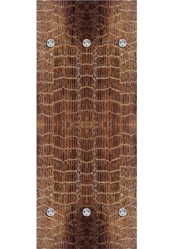 queence Garderobenpaneel »Lederoptik«, mit 6 Haken, 50 x 120 cm kaufen