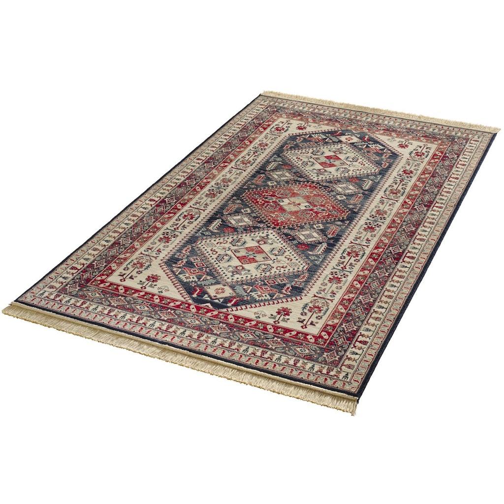 MINT RUGS Teppich »Cult«, rechteckig, 9 mm Höhe, Orient Optik, weiche Viskose mit Fransen, Wohnzimmer