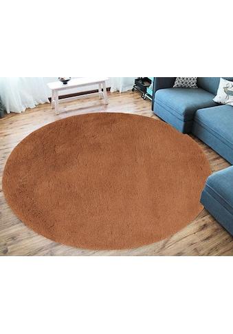 GOODproduct Teppich »Leelo«, rund, 30 mm Höhe, aus recycletem Material, Wohnzimmer kaufen
