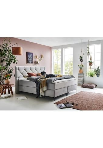 Premium collection by Home affaire Boxspringbett »Aiko«, 100% vegan, mit tierfreundlichem Bezugssstoff, besonders pflegeleicht kaufen