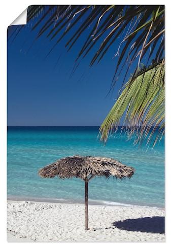 Artland Wandbild »Sonnenschirm am Strand« kaufen