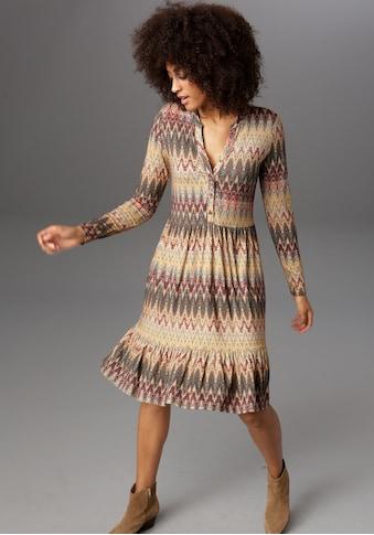 Aniston CASUAL Jerseykleid, im Folklore-Style kaufen
