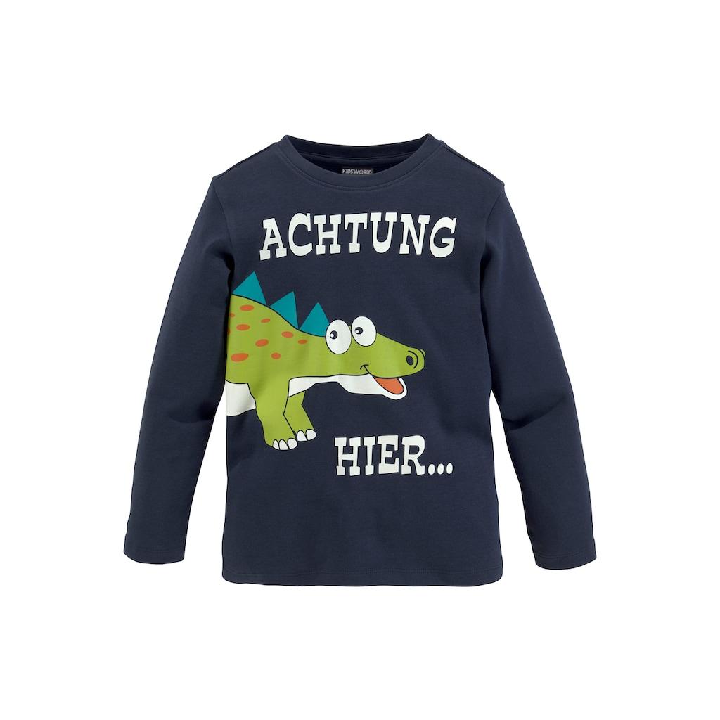 KIDSWORLD Shirt & Hose, mit grossem Dinodruck
