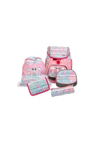 Schulrucksack »Flexy-Bag Cool Cats 5-teilig« kaufen