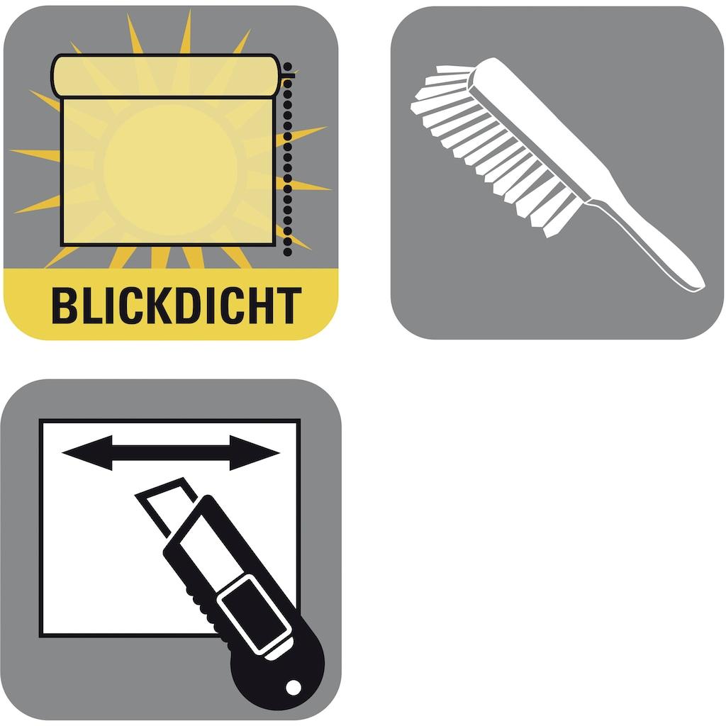 GARDINIA Seitenzugrollo »EASYFIX Rollo Uni«, Lichtschutz, ohne Bohren, im Fixmass