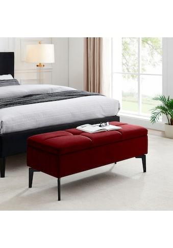 INOSIGN Bettbank »Galina«, Sitzfläche gesteppt, mit Strauraum kaufen