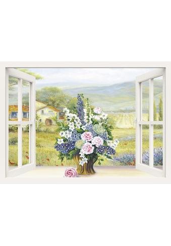 Home affaire Leinwandbild »Heins, A.: Blumenbouquet am weissen Fenster« kaufen