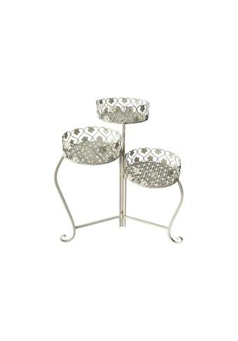 Pflanzentreppe »mit drei Höhen Metall, Weiss« kaufen