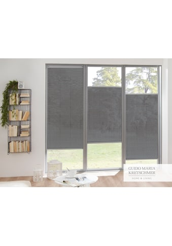 Guido Maria Kretschmer Home&Living Plissee nach Mass »Flair«, Lichtschutz, mit Bohren, verspannt, komfortables Bedienprofil wahlweise in weiss oder silber kaufen