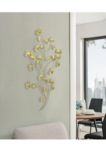 Leonique Wanddekoobjekt, Wanddeko Ginko-Blätter kaufen