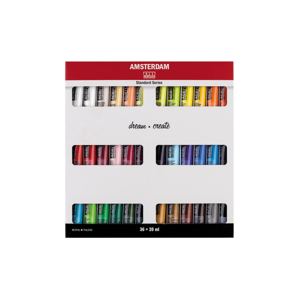 AMSTERDAM Acrylfarbe »Standard Serie Set 36 x 20 ml«