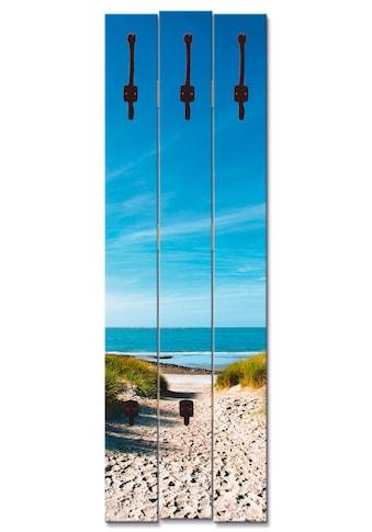 Artland Garderobenpaneel »Strand mit Sanddünen und Weg zur See«, platzsparende... kaufen