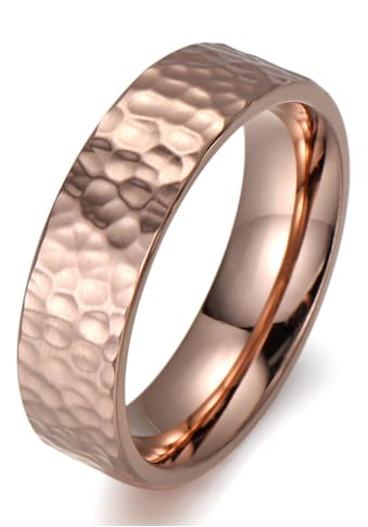 Firetti Fingerring »8,0 mm, in Glanzoptik, matt, strukturiert, IP-beschichtet, feminin« kaufen