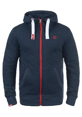 Solid Kapuzensweatjacke »Benn«, Sweatshirtjacke mit hochabschliessendem Kragen kaufen