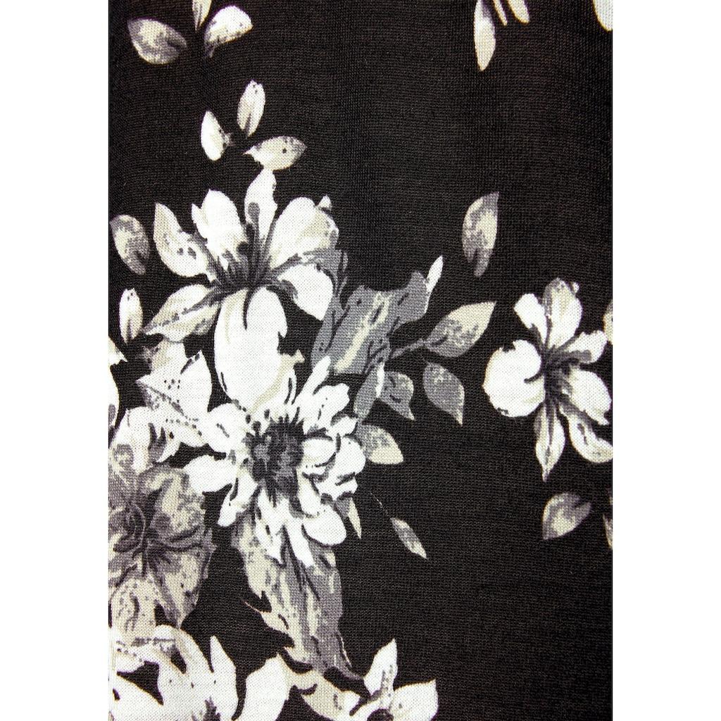 LASCANA Longshirt, mit dezentem Blumendruck