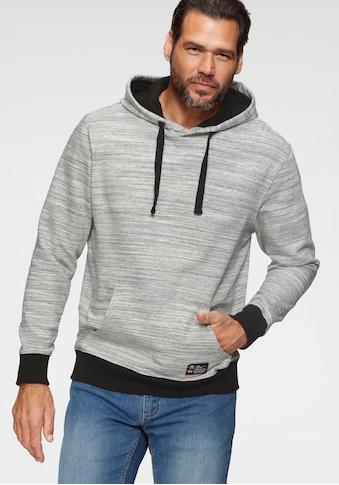 Man's World Kapuzensweatshirt, kontrastfarbene Details kaufen