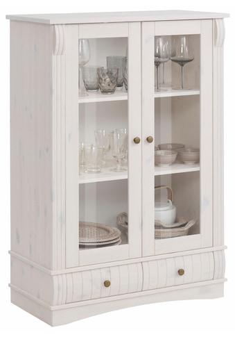 Home affaire Vitrine »Teresa«, mit 2 Glastüren und 2 Schubladen, Höhe 120 cm kaufen