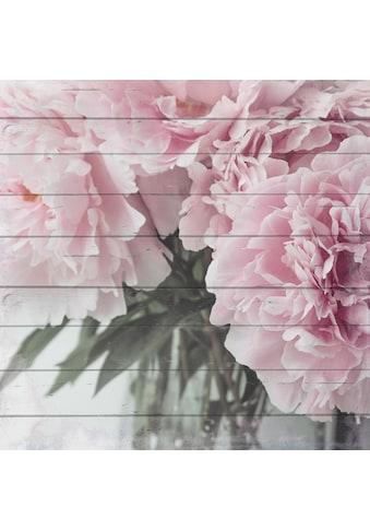 Home affaire Holzbild »Blumenstrauss«, 40/40 cm kaufen