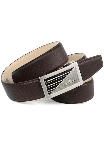Anthoni Crown Ledergürtel, mit sportlich-eleganter Schnalle in braun kaufen