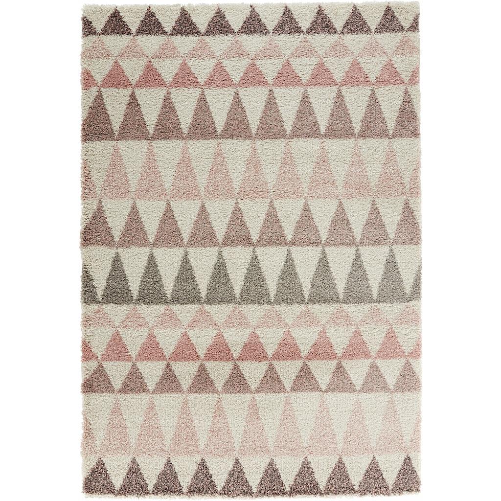 MINT RUGS Hochflor-Teppich »Triangle«, rechteckig, 35 mm Höhe, besonders weich durch Microfaser, Wohnzimmer