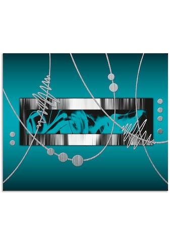 Artland Küchenrückwand »Silber abstrakt auf petrol«, selbstklebend in vielen Grössen -... kaufen