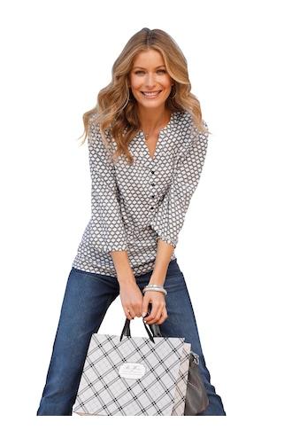 Classic Inspirationen Bluse mit aussergewöhnlich schönem Druck - Dessin kaufen