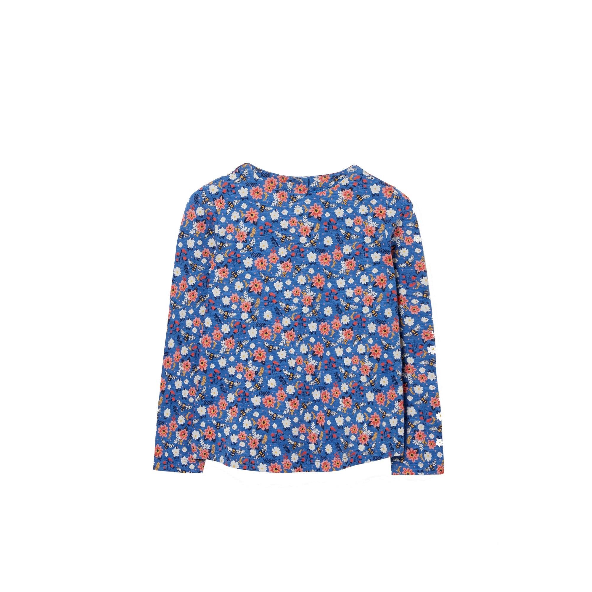 Image of FatFace Langarmshirt »Kinder / Mädchen mit Bienenmuster und Knopf-Details«