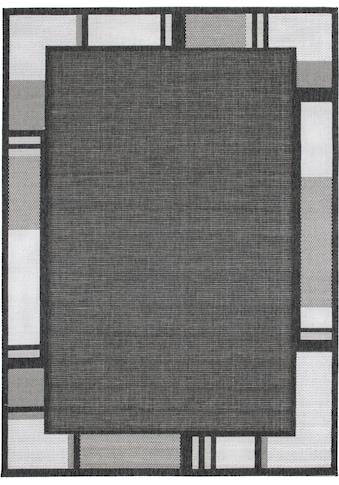 Andiamo Teppich »New Orleans 2«, rechteckig, 5 mm Höhe, Flachgewebe, mit Bordüre, In- und Outdoor geeignet, Wohnzimmer kaufen