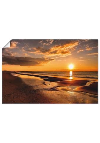 Artland Wandbild »Sonnenuntergang am Mittelmeer«, Strand, (1 St.), in vielen Grössen &... kaufen