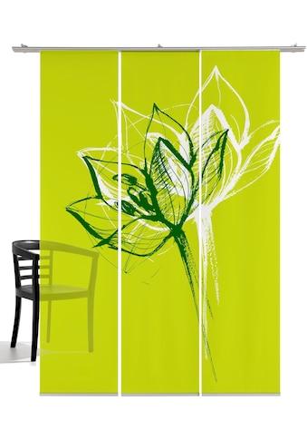 emotion textiles Schiebegardine »Blütenkopf«, HxB: 260x60, mit Befestigungszubehör kaufen