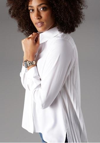 Aniston SELECTED Plisseebluse, mit verlängertem Rücken kaufen