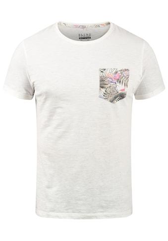 Blend Rundhalsshirt »Florens«, T-Shirt mit Brusttasche kaufen