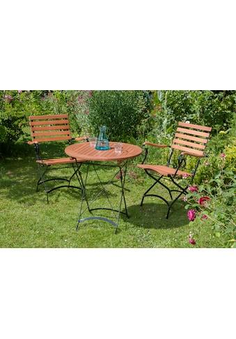 MERXX Gartenmöbelset »Schlossgarten«, 3tlg., 2 Sessel, Tisch, klappbar, Eukalyptusholz kaufen