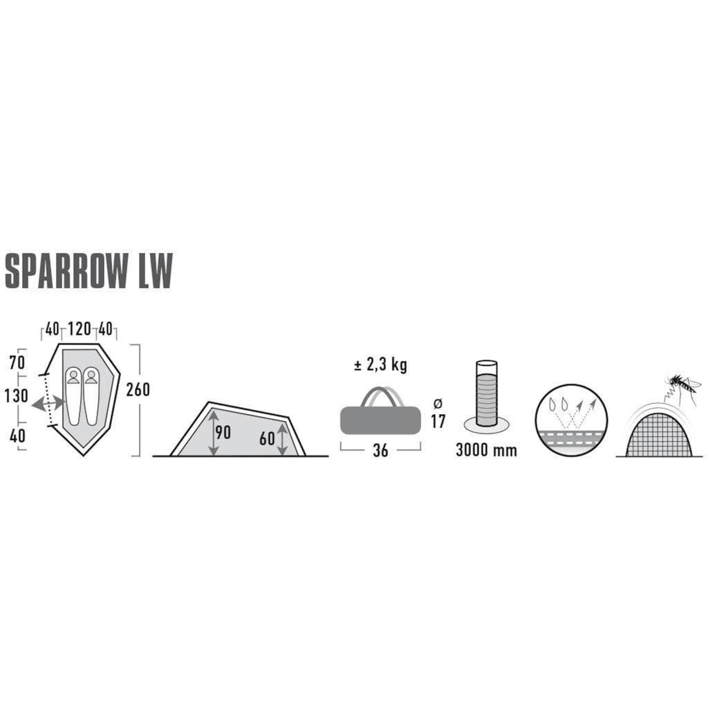 High Peak Tunnelzelt »Sparrow LW«, 2 Personen