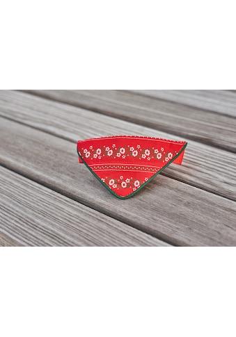 Hannah Tier-Halsband, Textil, mit farbiger Passpoil - Made in Austria kaufen