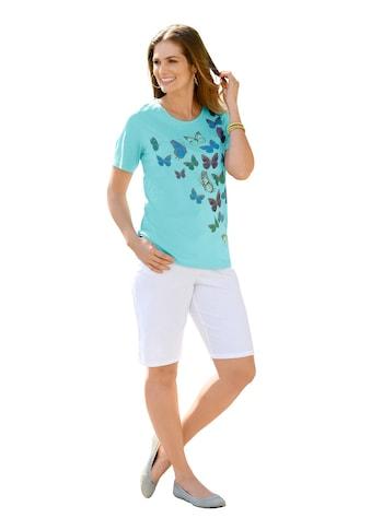 Classic Basics Shirt mit süssem Schmetterlings - Druck kaufen