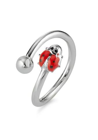 Fingerring  Ring Kinder Silberfarben Marienkäfer kaufen