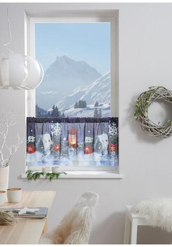 Scheibengardine, »Winterzauber«, my home, Stangendurchzug 1 Stück kaufen