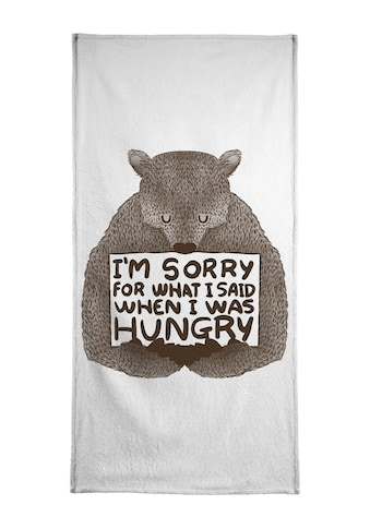 Juniqe Handtuch »I'm Sorry For What I Said When I Was Hungry«, (1 St.), Weiche Frottee-Veloursqualität kaufen