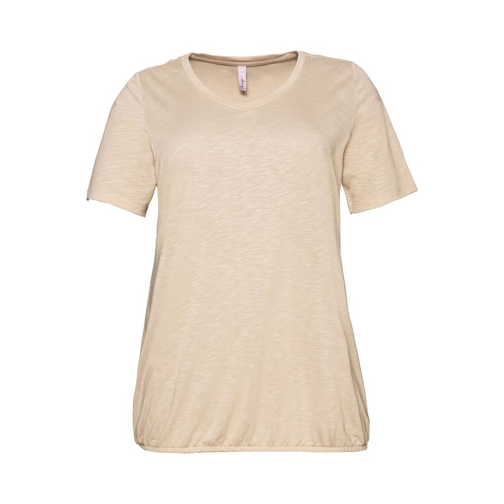 Sheego T-Shirt, mit Gummizug am Saum