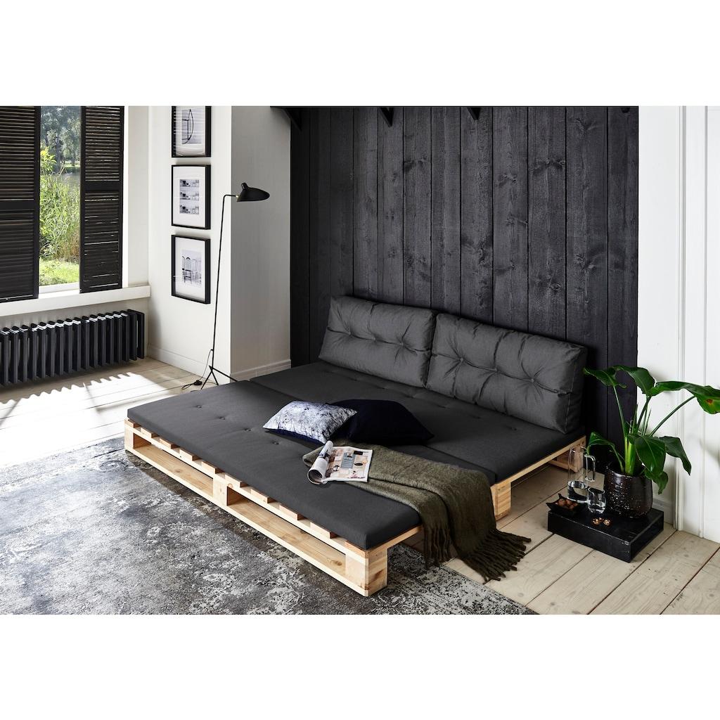 ATLANTIC home collection Loungesofa, Palettensofa, inklusive Bettfunktion