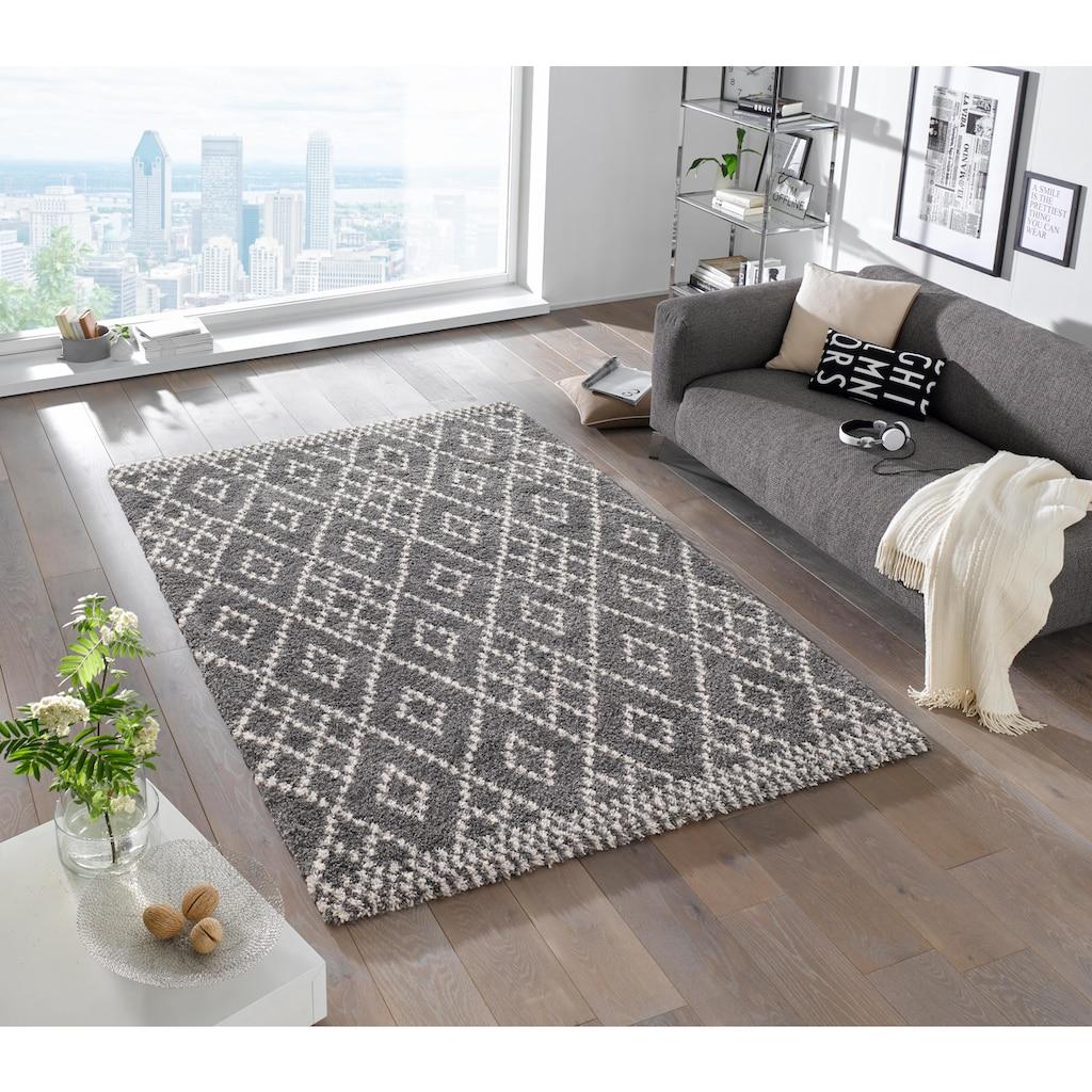 MINT RUGS Hochflor-Teppich »Chess«, rechteckig, 35 mm Höhe, Wohnzimmer