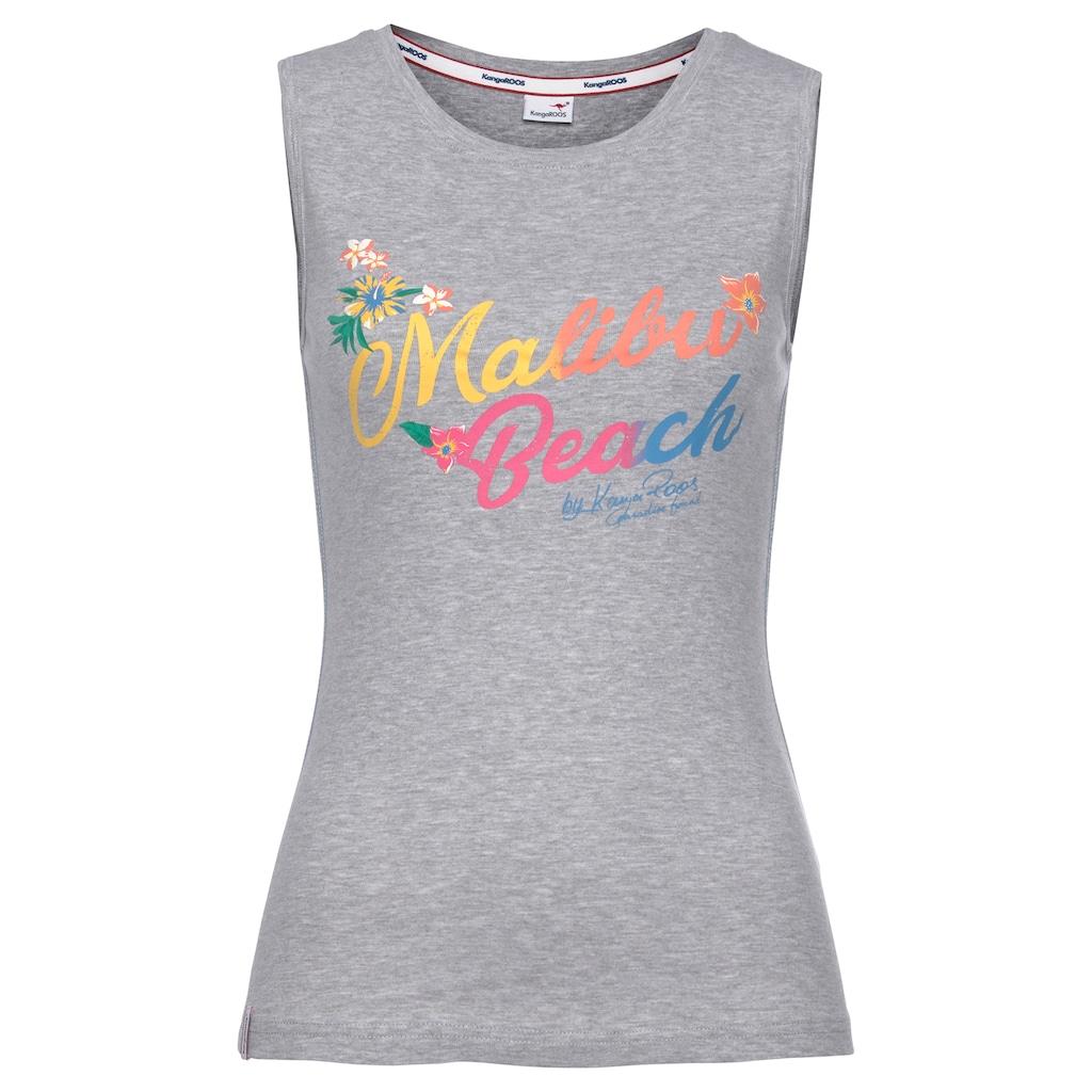 "KangaROOS Tanktop, mit buntem ""Malibu Beach"" Schriftzug"